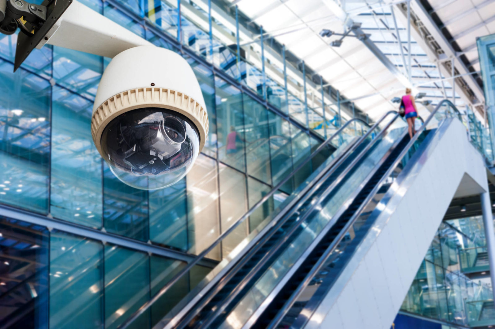 CCTV camera or surveillance operating in glass building