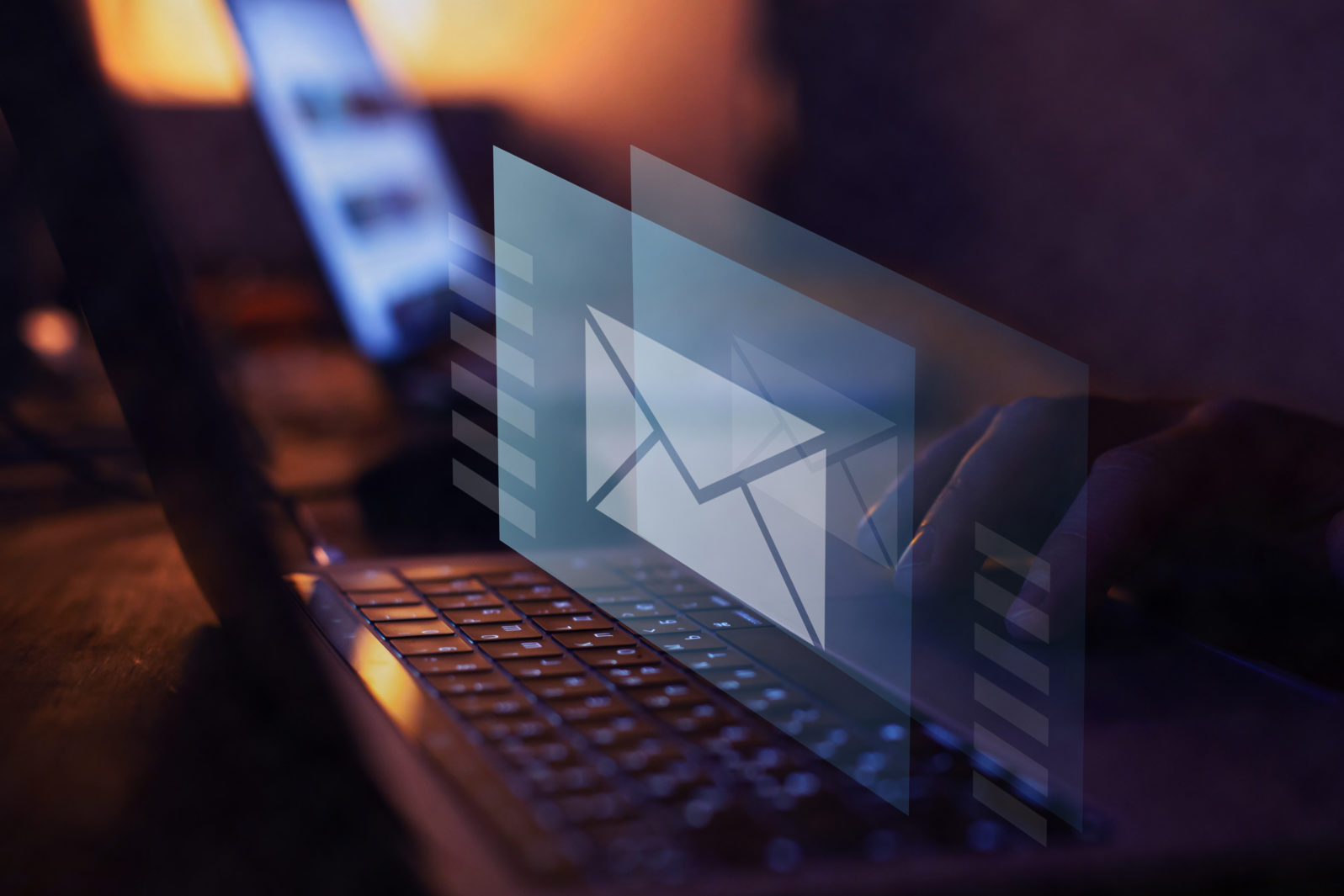 email marketing concept, send e-mail or newsletter